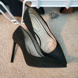 Black Suede Stiletto Heels